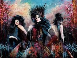 Trinity by Troika - Hand Embellished Box Canvas sized 48x36 inches. Available from Whitewall Galleries